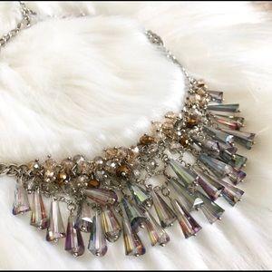 Ann Taylor LOFT iridescent bling necklace!💖
